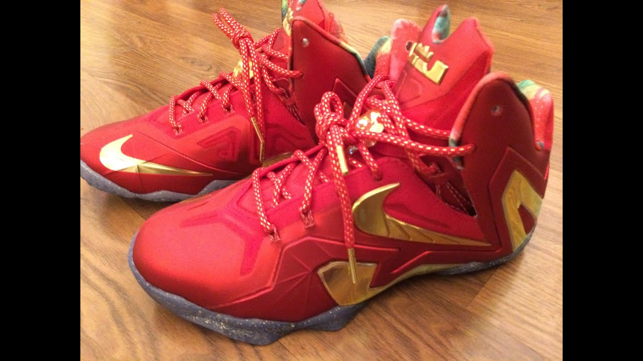420bc3607ffc ... spain lebron 11 elite se university red on feet youtube 9bf3b 7808d