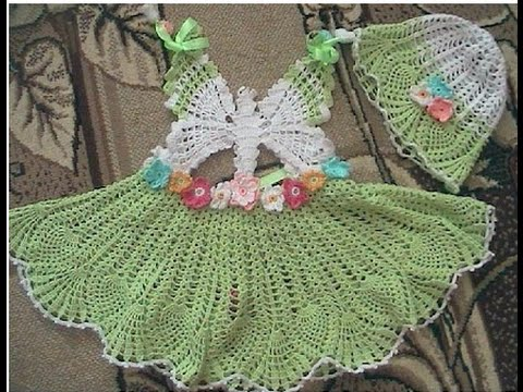 Crochet Patterns For Lacy Crochet Baby Dress Pattern 14
