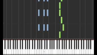 No Me Mirès Màs (Kenji Girac & Soprano) - Synthesia Piano Tuto