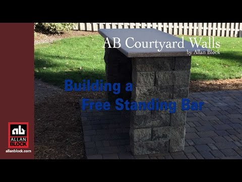 How to Build a Free Standing Bar with Countertop