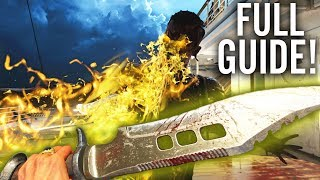 BOWIE KNIFE UPGRADE GUIDE: UPGRADED BOWIE KNIFE EASTER EGG GUIDE (Black Ops 4 Zombies)