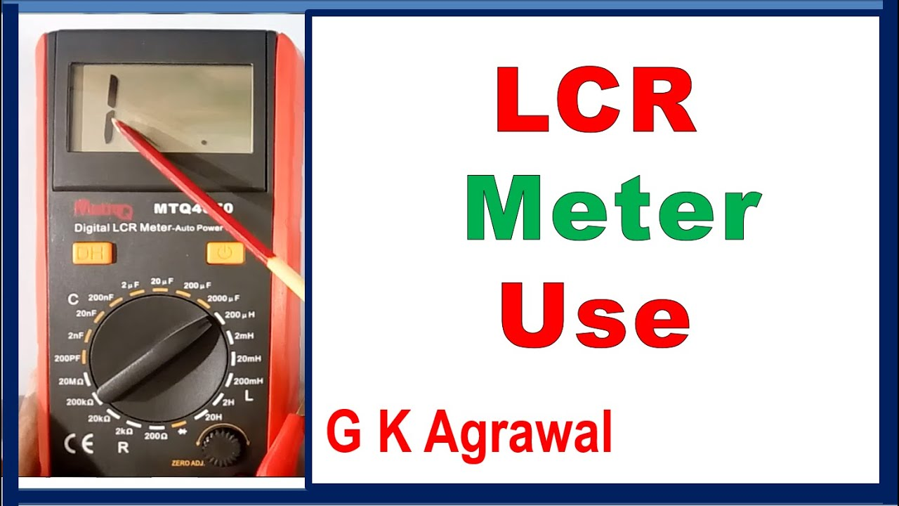 Using An Lcr Meter : Lcr meter to measure inductor capacitor resistor value
