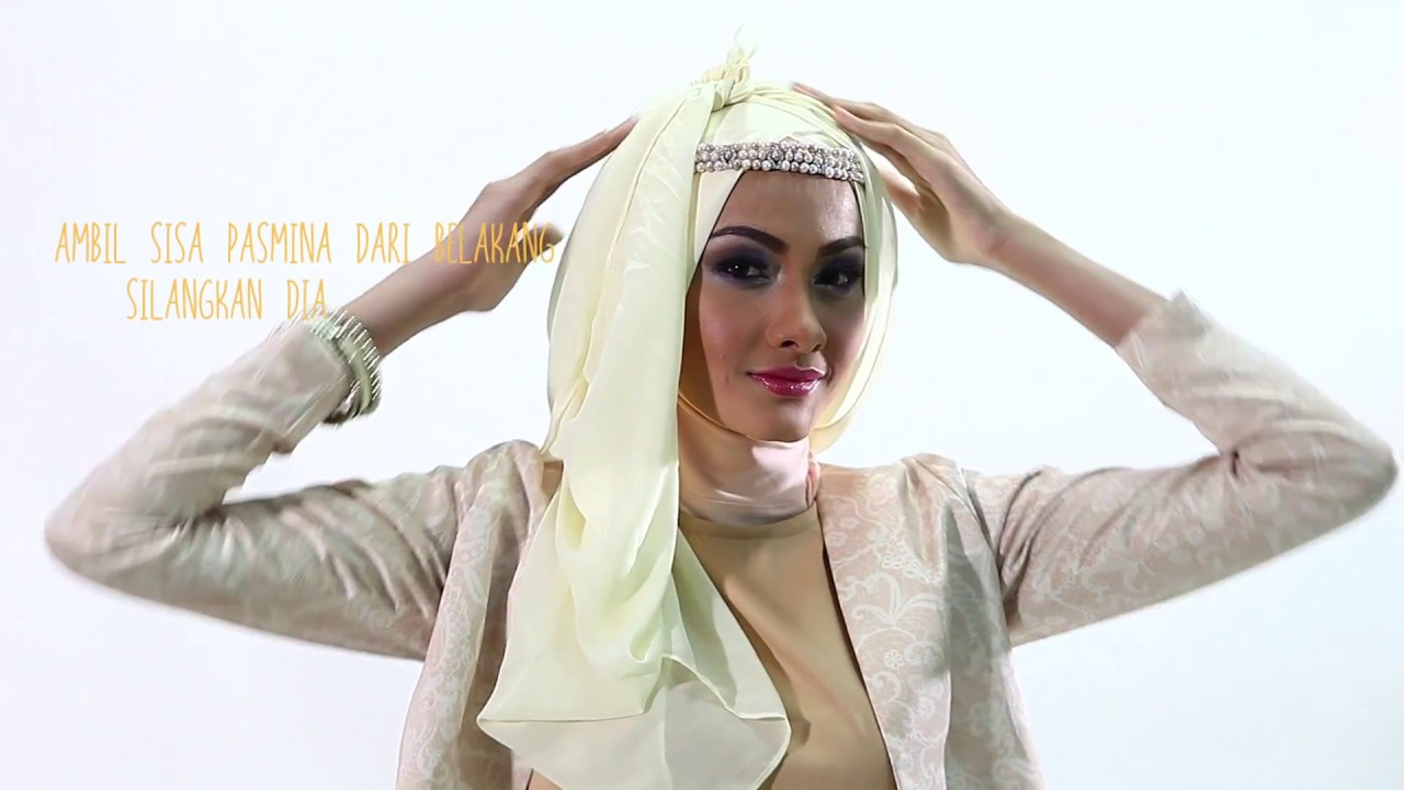 Tutorial Hijab Pashmina Dengan Headpiece YouTube