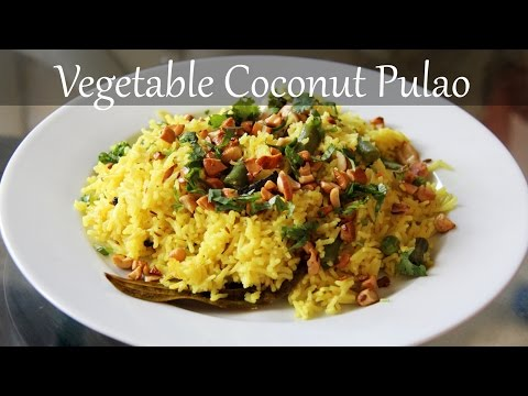 Vegetarian Coconut Rice Recipe | Quick & Easy Indian Lunch & Dinner Recipes By Shilpi