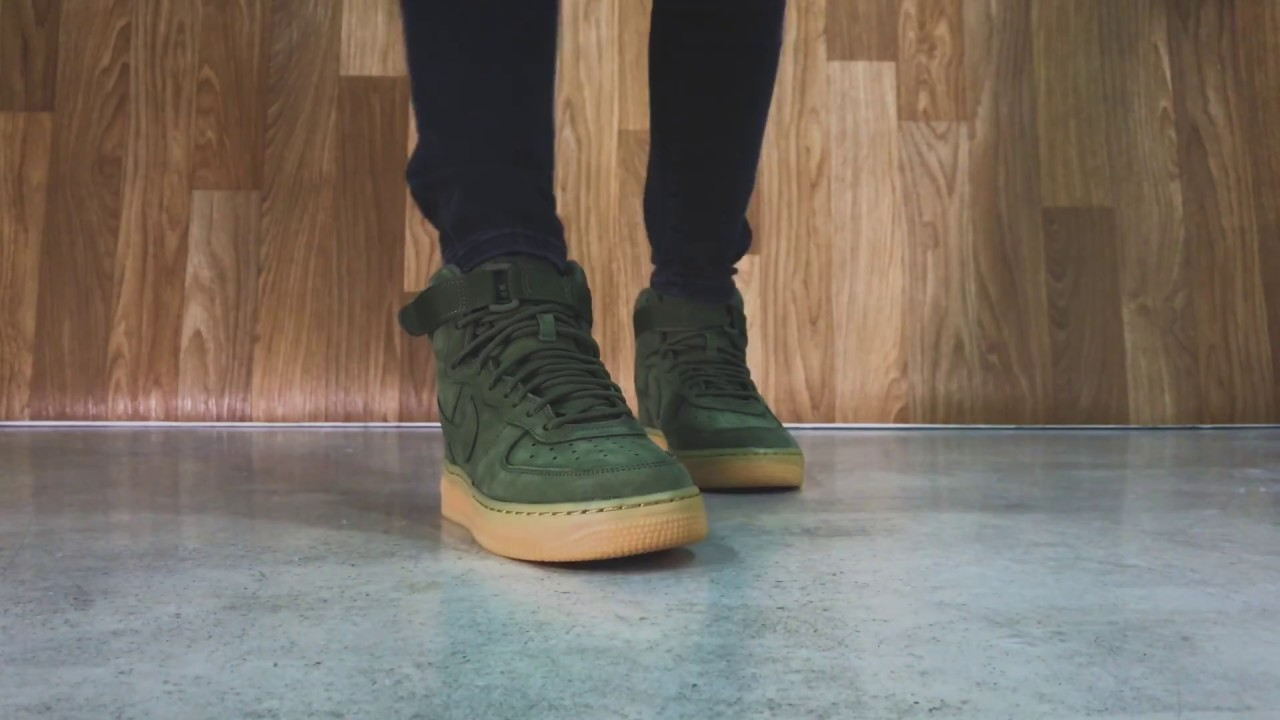 best website cdb18 4ac63 Nike AirForce 1 High WB - Medium Olive   Sneaker10