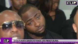 DJ OLU'S DEATH: DAVIDO ATTENDS LATE FRIEND'S BURIAL
