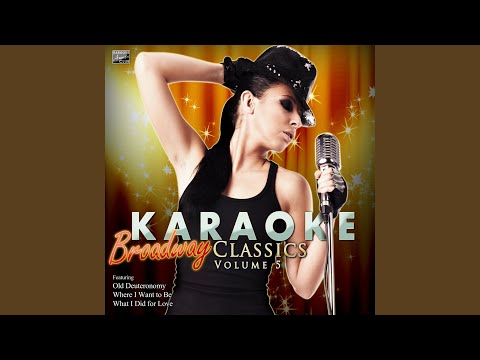 What I Did For Love (In The Style Of Chorus Line) (Karaoke Version)