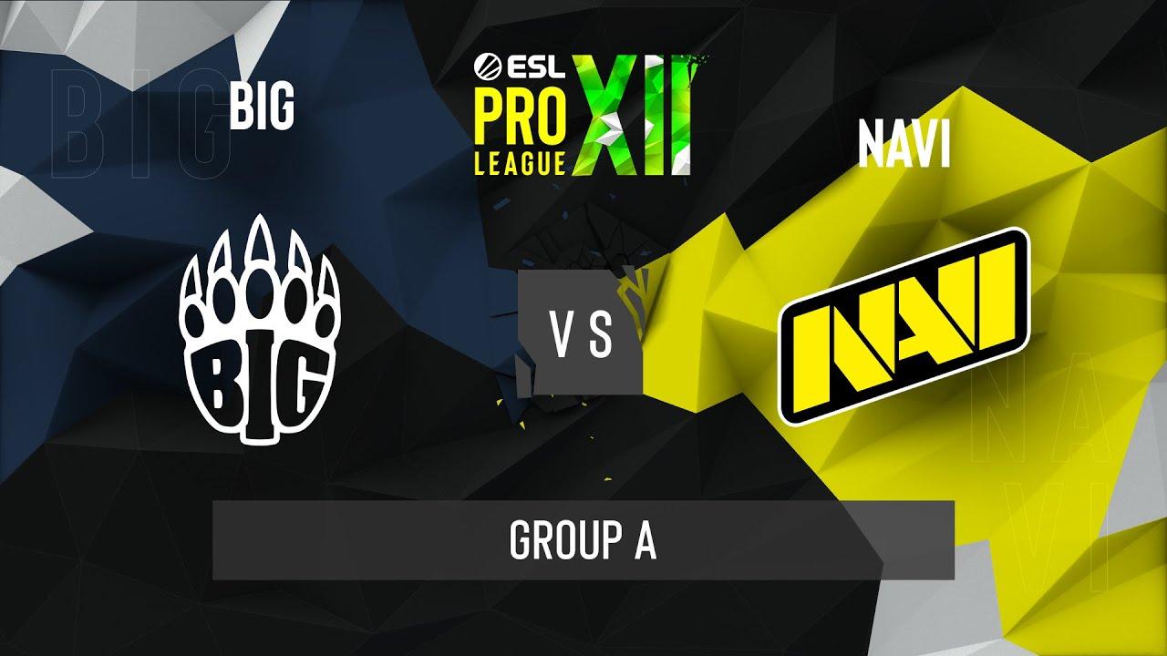 CS:GO - BIG vs. Natus Vincere [Dust2] Map 1 - ESL Pro League Season 12 - Group A - EU