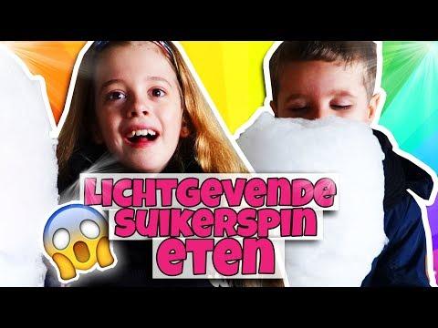 LICHTGEVENDE SUIKERSPIN!! 💗  - Broer en Zus TV VLOG #262