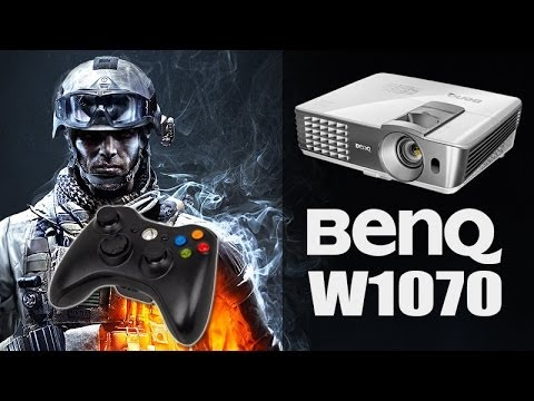 BENQ W1070 BATTLEFIELD 3 - PROJECTOR INPUT LAG TEST - GAMING - CINEMA & SMART ECO MODE