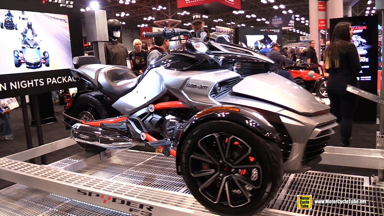 2015 can am spyder f3 s with urban nights package walkaround 2014 new york motorcycle show. Black Bedroom Furniture Sets. Home Design Ideas