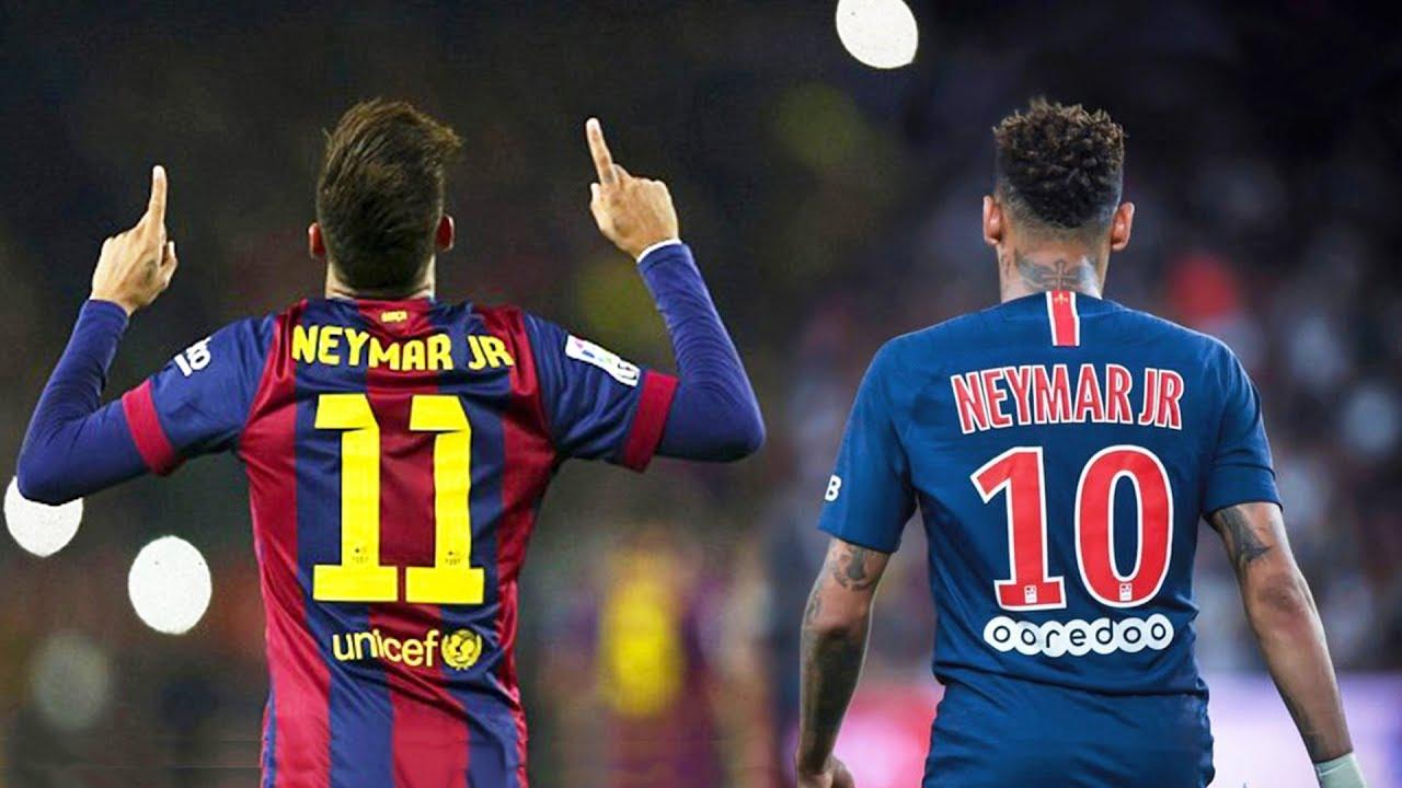 Neymar Barcelona vs Neymar PSG - YouTube