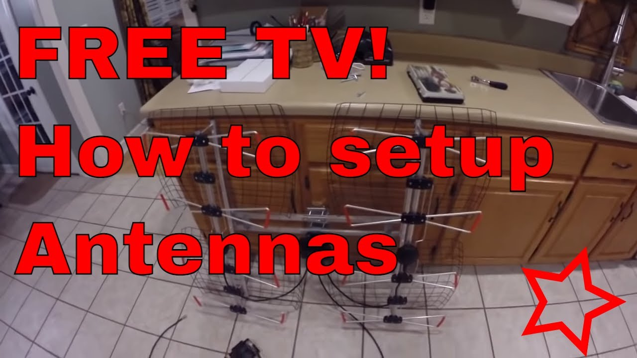 Detailed instructions on how to Install an over the air TV