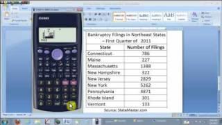 mean and std dev on the casio fx 300es calculator