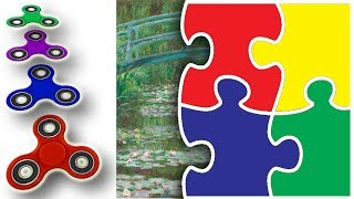 Magic Puzzle - The Japanese Footbridge | Kids Learn Colors | Fidget Spinner | ESL for Kids
