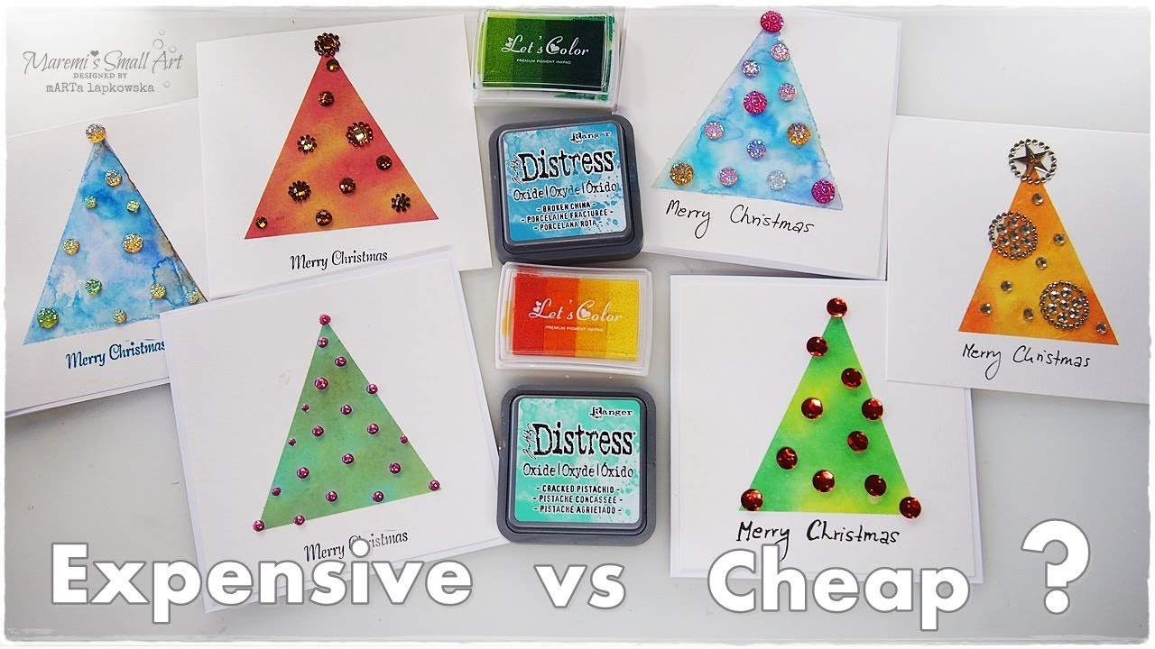 cheap vs expensive products for christmas cards maremis small art - Cheap Christmas Cards Photo
