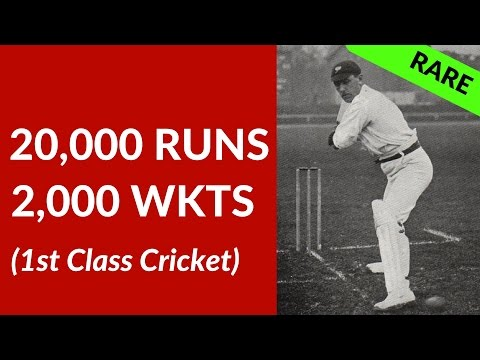 20,000 Runs & 2,000 Wkts in 1st Class Cricket: A Rare Double Only 9 Players Achieved