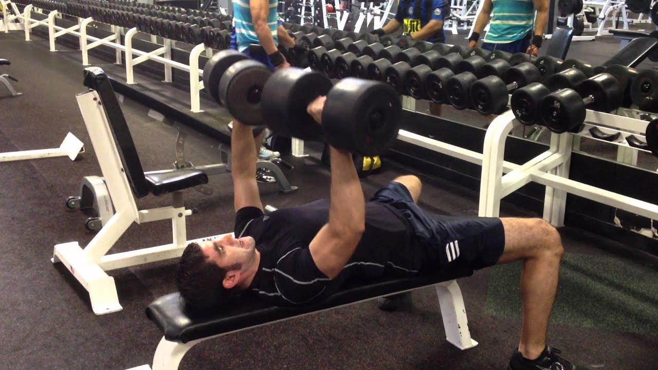 Dumbbell Bench Press 100 Lbs For 6 Reps At 168 Lbs Body Weight Youtube