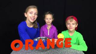 Learn English Colors! Rainbow Ice Cream Pretend Play with Sign Post Kids!