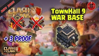 NEW !!! TH9 War Base 2018 Anti TH10 and TH11 | Clash of Clans