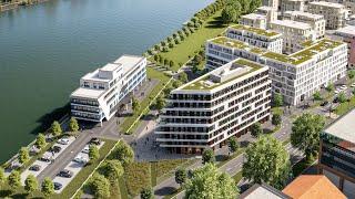 In ludwigshafen am rhein entsteht mit heimatufer ein neues, innovatives wohnquartier als auftakt für das rheinufer süd. ist neues wohnquartier...
