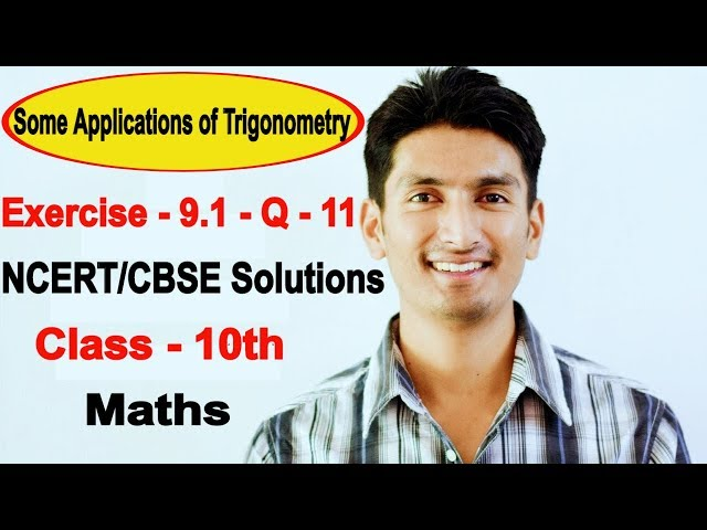 Chapter 9 Exercise 9.1 Q 11 - Some Applications of Trigonometry Class 10 maths - NCERT Solutions