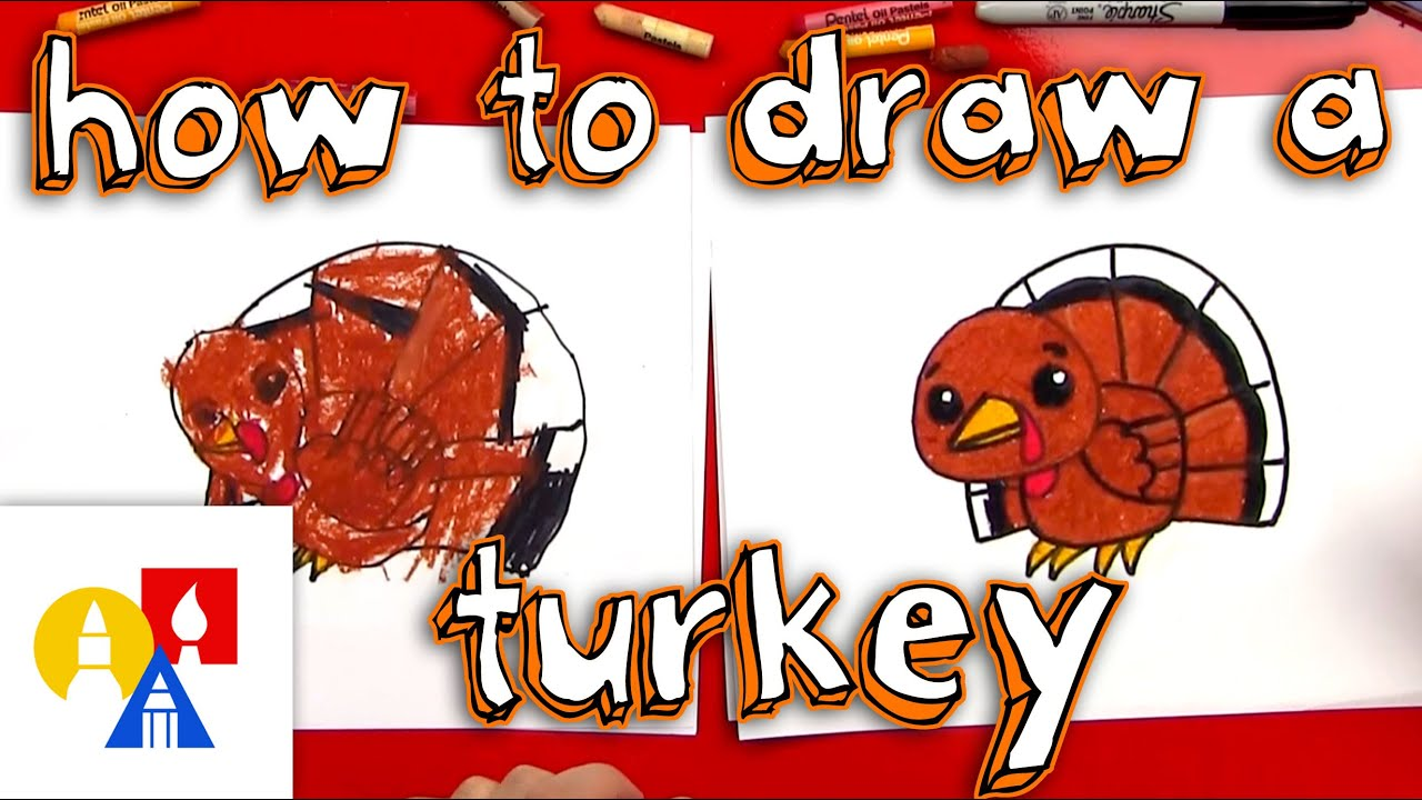 Uncategorized How To Draw A Turkey For Kids how to draw a cartoon turkey youtube