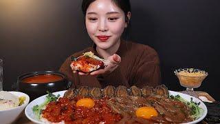 SUB)밥도둑 간장새우장 양념새우장 전복장 먹방(fea…