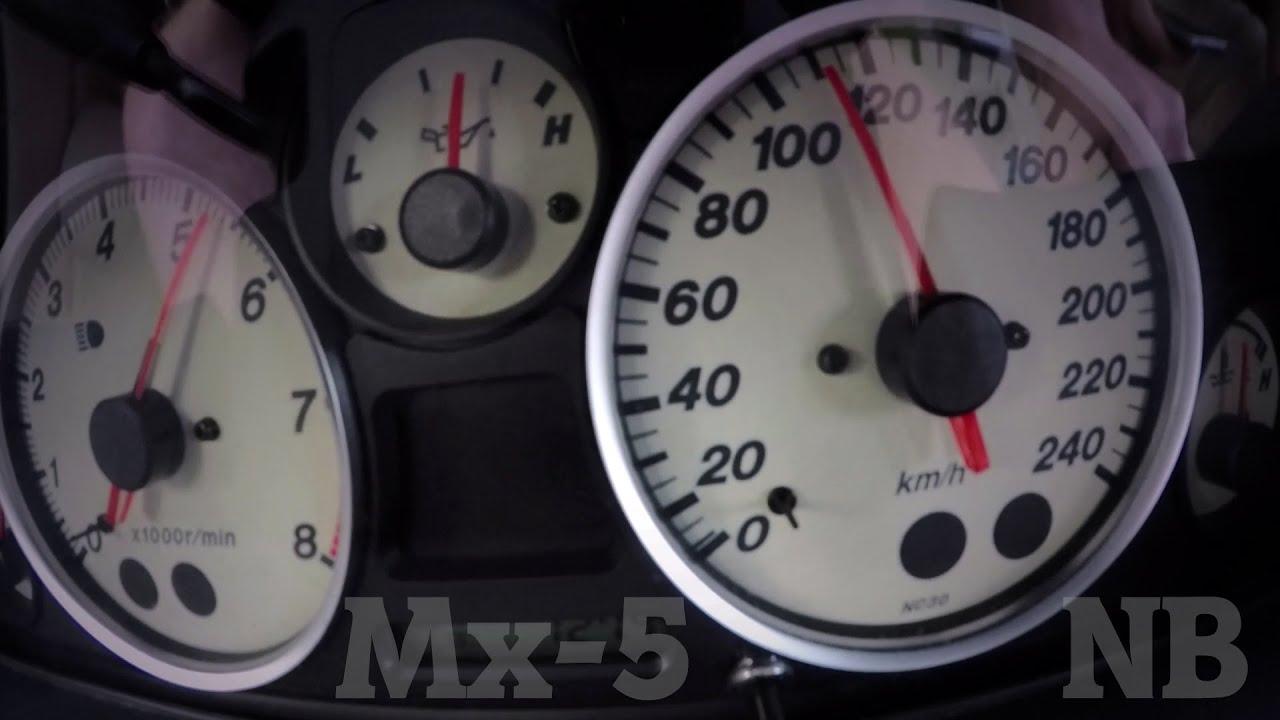 Mazda Mx5 NB Miata 1 6 Stock 0-100 kmh Acceleration
