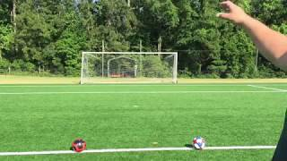 Soccer + Tennis Crossbar / goal post challenge - WARNING - high difficulty level!