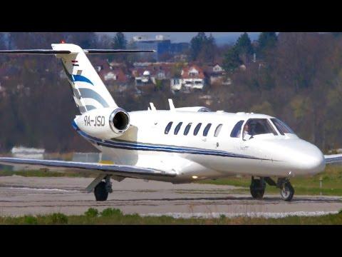 Beautiful Cessna 525A CitationJet CJ2 Take-Off at Bern