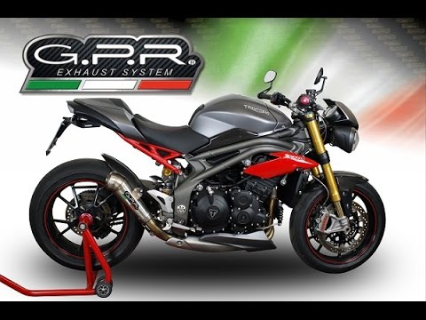 triumph speed triple 1050 r 2016 single gpr exhaust systems sound