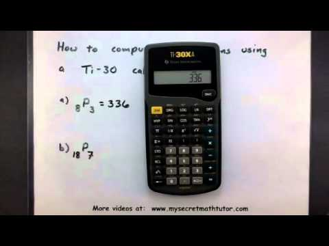 Probability How To Compute Permutations Using A Calculator