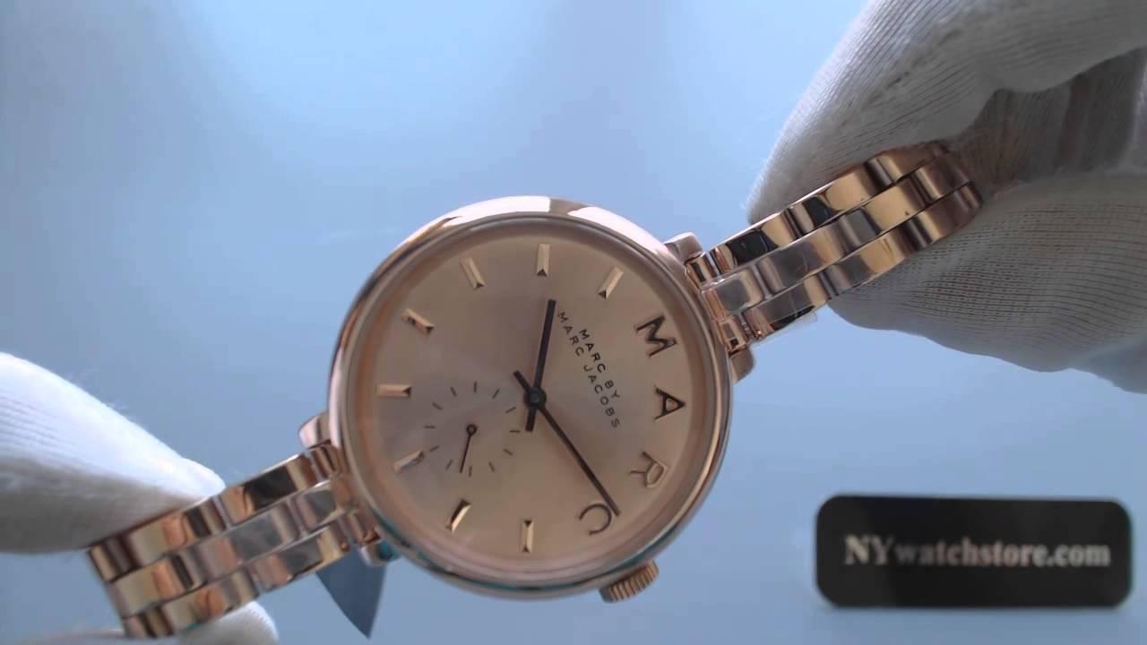Women S Marc Jacobs Slim Baker Rose Gold Watch Mbm3364 Youtube