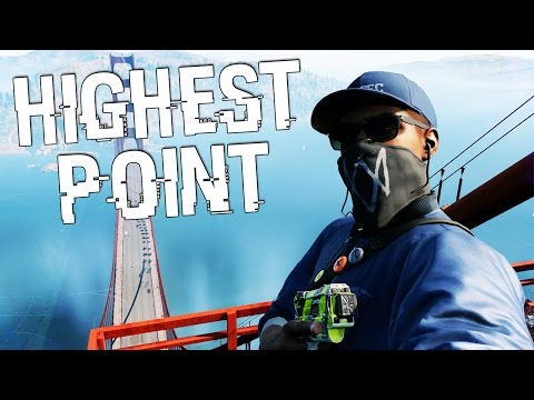 WATCH DOGS 2: Highest Point On The Map - Bridge Stunt