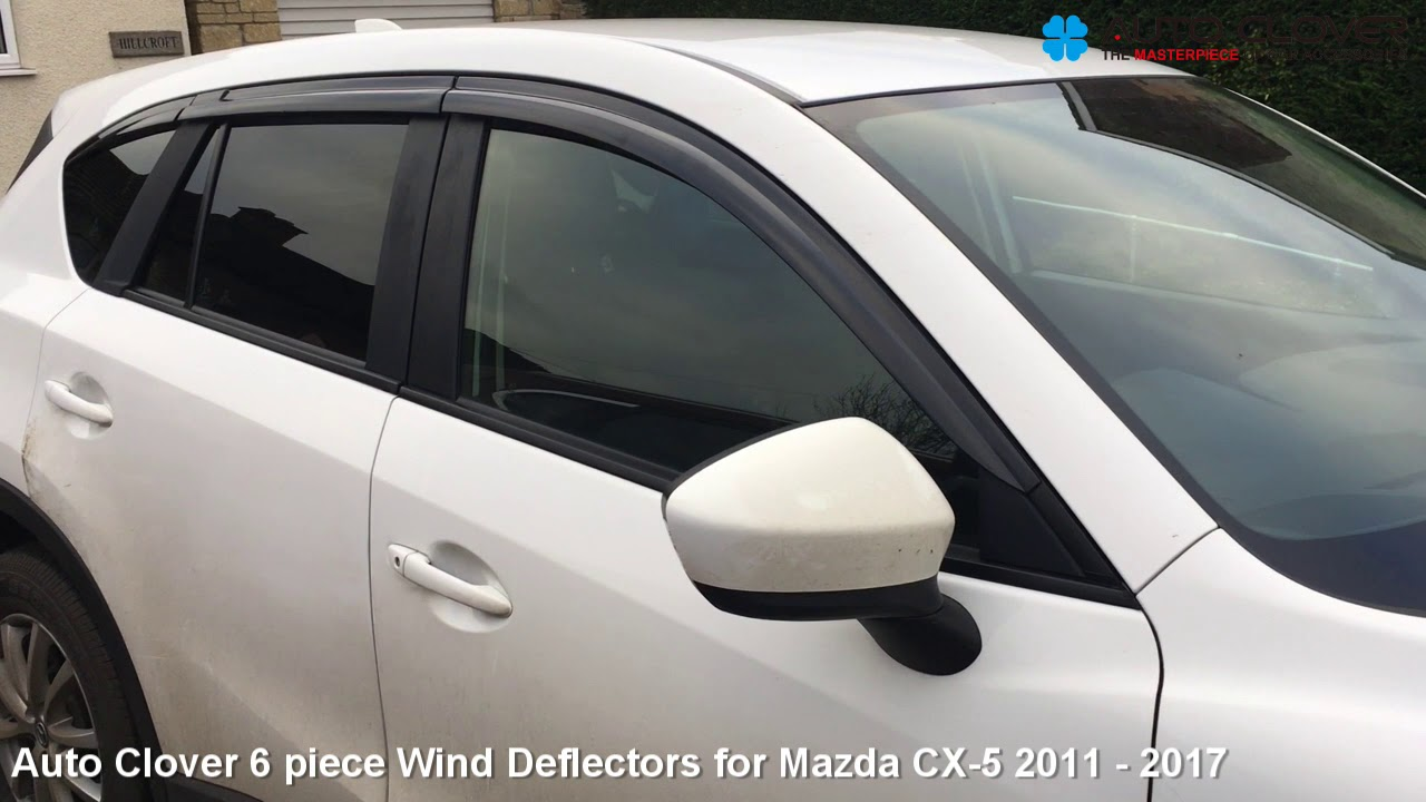 Autoclover Chrome Wind Deflectors Set for Mazda CX-5 2011-2017 6 pieces