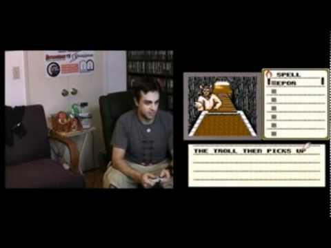 Classic NES Marathon Moment #181 - Shadowgate Troll