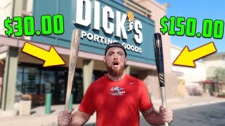 $30 BAT vs. $150 BAT! IRL Baseball Challenge
