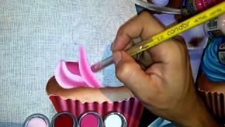 Pintura em tecido – cup cake