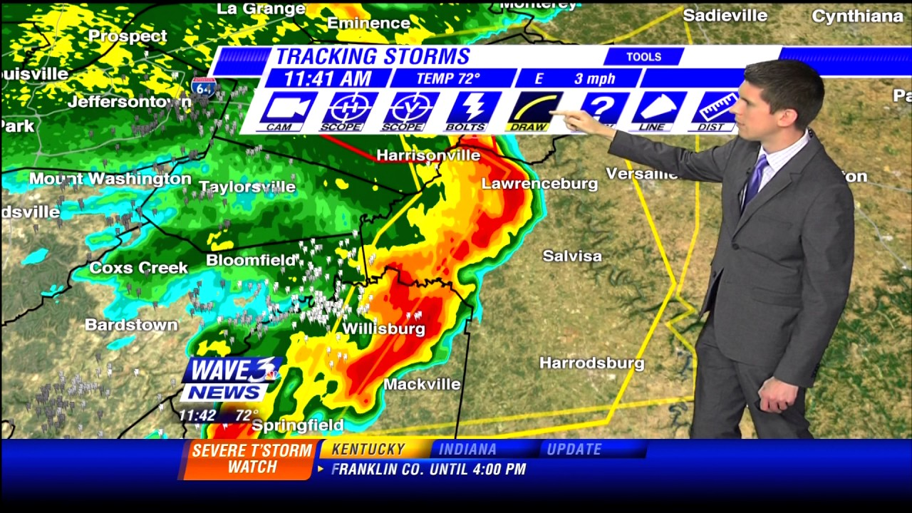 WAVE 3 - Severe Weather Coverage - 11:35-11:45am 7/10/2015