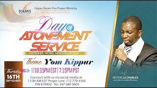 Day of Atonement Yom Kippur with Pastor J.E Charles | John 1:29 September 16th