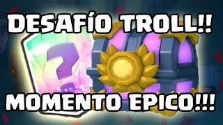 this was a TROLL challenge but in the end...!!! WOW! -KManuS88 - Clash Royale