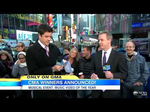 CMA Awards 2012 Winners: Best Video, Best Musical Event Winners Revealed on `Good Morning Americ
