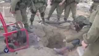IDF Infantry Find Weapons in Gaza Tunnel