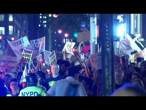 Raw: Protests Outside Trump Tower, New York