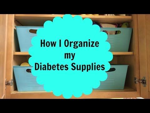 How I Organize my Diabetes Supplies!