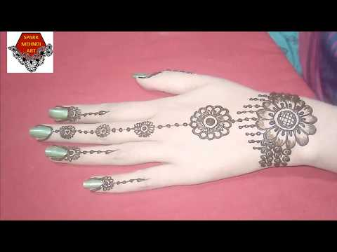 Simple back hand mehndi design for beginners