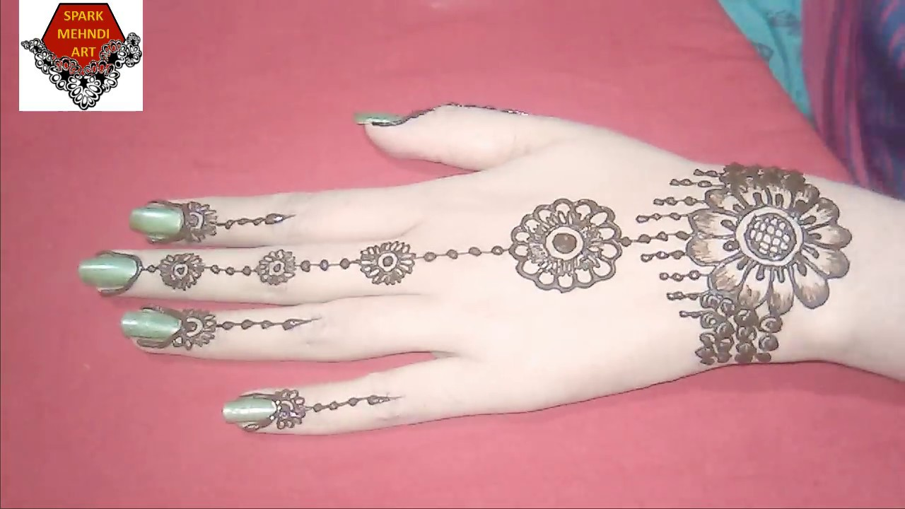 Simple Back Hand Mehndi Design For Beginners  YouTube