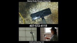 Heavy Duty House Cleaning Hoarder's Bathroom Cleaning. ACTUAL JOB. 407-572-4118