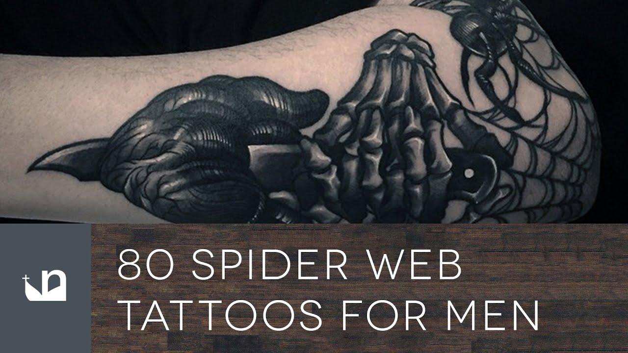 f99fdacb8557e 80 Spider Web Tattoos For Men - YouTube